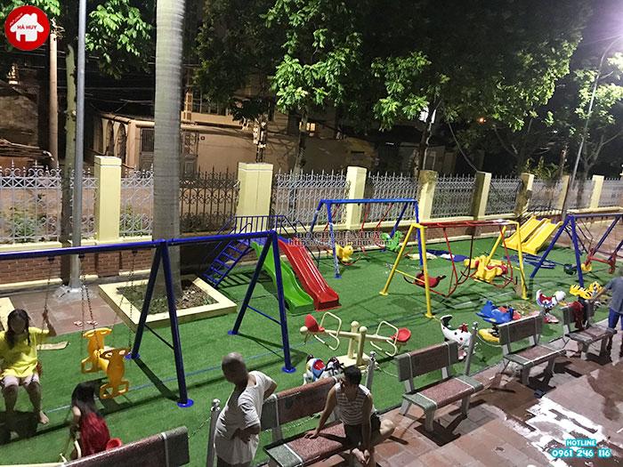 Sản xuất lắp đặt đồ chơi ngoài trời cho sân chơi trẻ em tại Đông Anh-1