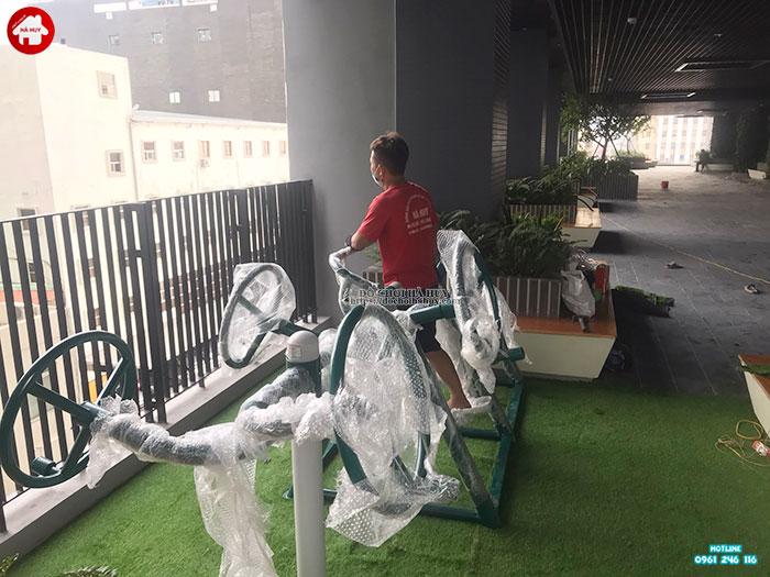 Sản xuất lắp đặt đồ chơi ngoài trời cho chung cư tại Cầu Giấy, Hà Nội