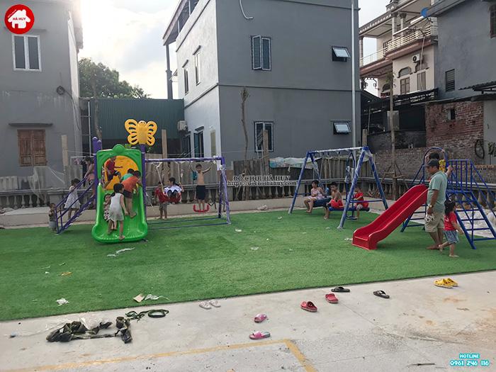 Lắp đặt đồ chơi ngoài trời cho sân chơi trẻ em tại Đông Anh, Hà Nội