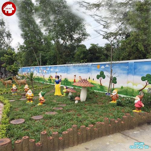 Thi công vườn cổ tích cho bé trường mầm non