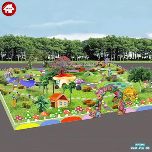 Thiết kế thi công vườn cổ tích trường mầm non