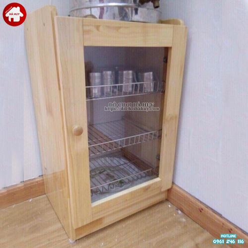 Tủ úp ca cốc khung gỗ 1 cách HD2-001B