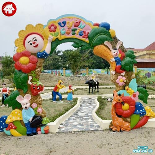 Thi công vườn cổ tích trường mầm non đẹp HB11-033