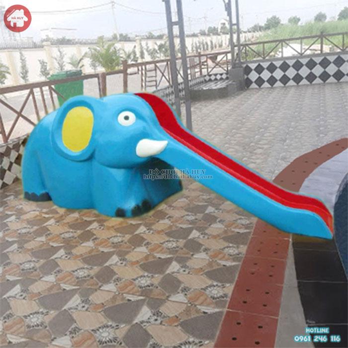 Cầu trượt bể bơi con voi composite HB12-006