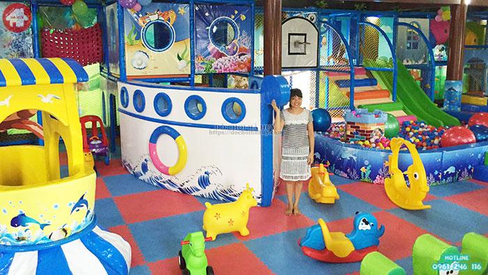 Hình ảnh thực tế khu vui chơi liên hoàn trong nhà