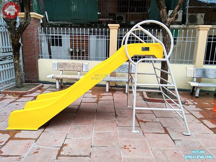 Thang leo cầu trượt đôi bể bơi cho trẻ HB12-019