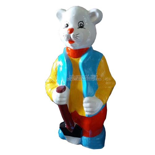 Tượng cổ tích bác gấu cho trường mầm non HB11-036