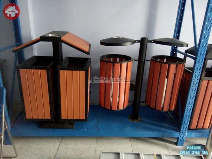 Thùng rác gỗ ngoài trời HD4- 025