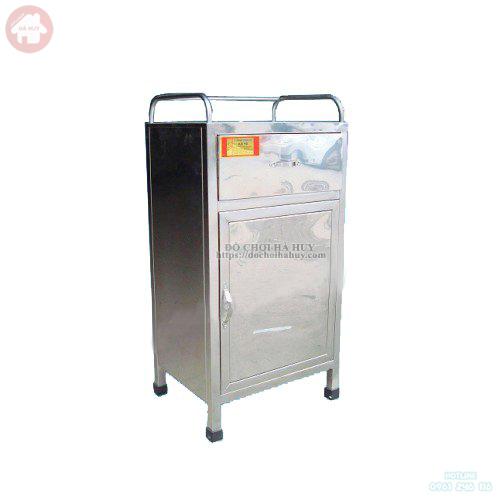 Tủ đầu giường bệnh viện bằng inox thiết bị y tế HD3-038
